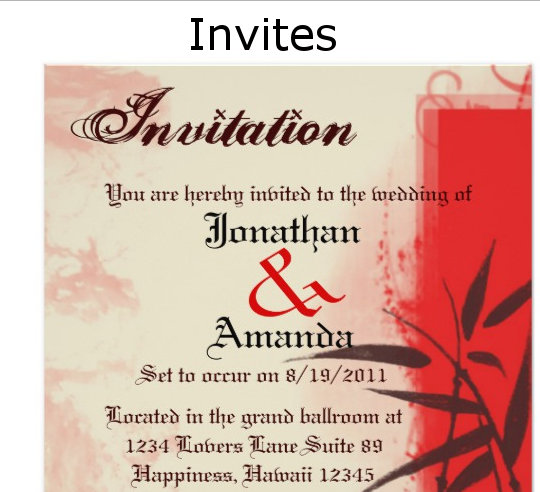 Invitations/RSVP