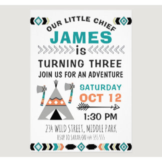 Boys Birthday Invitations