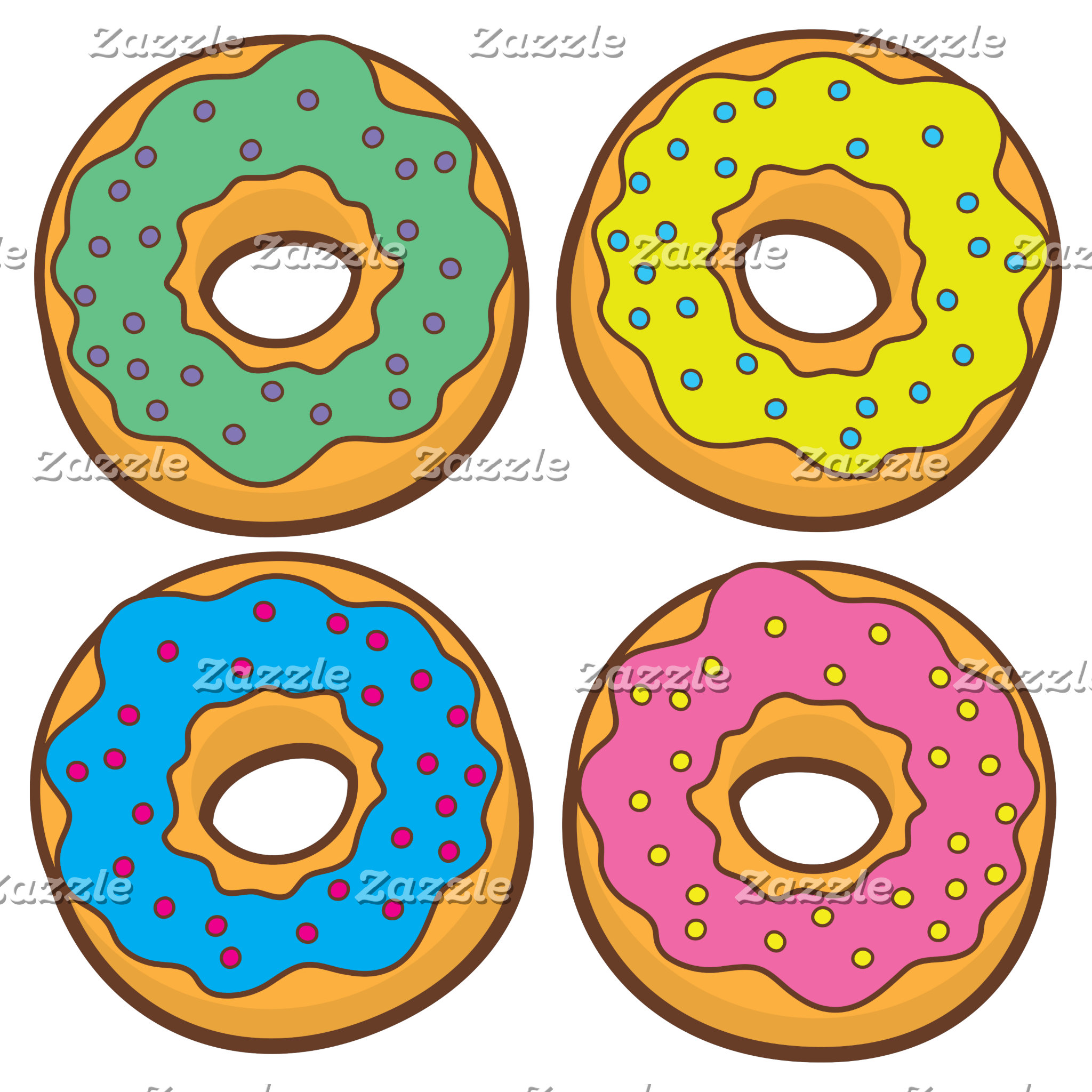 four donuts