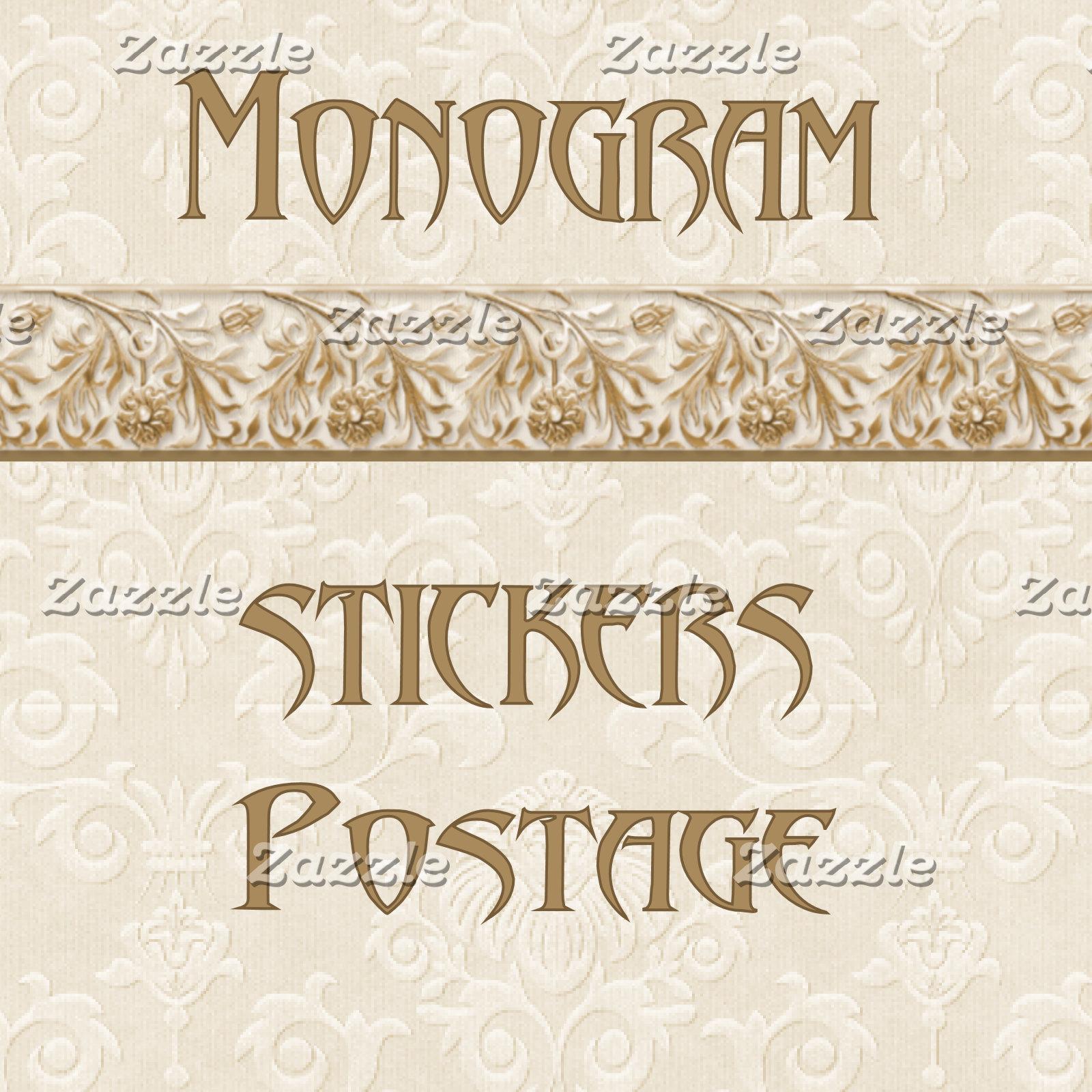 3. MONOGRAM - Stickers-Postage