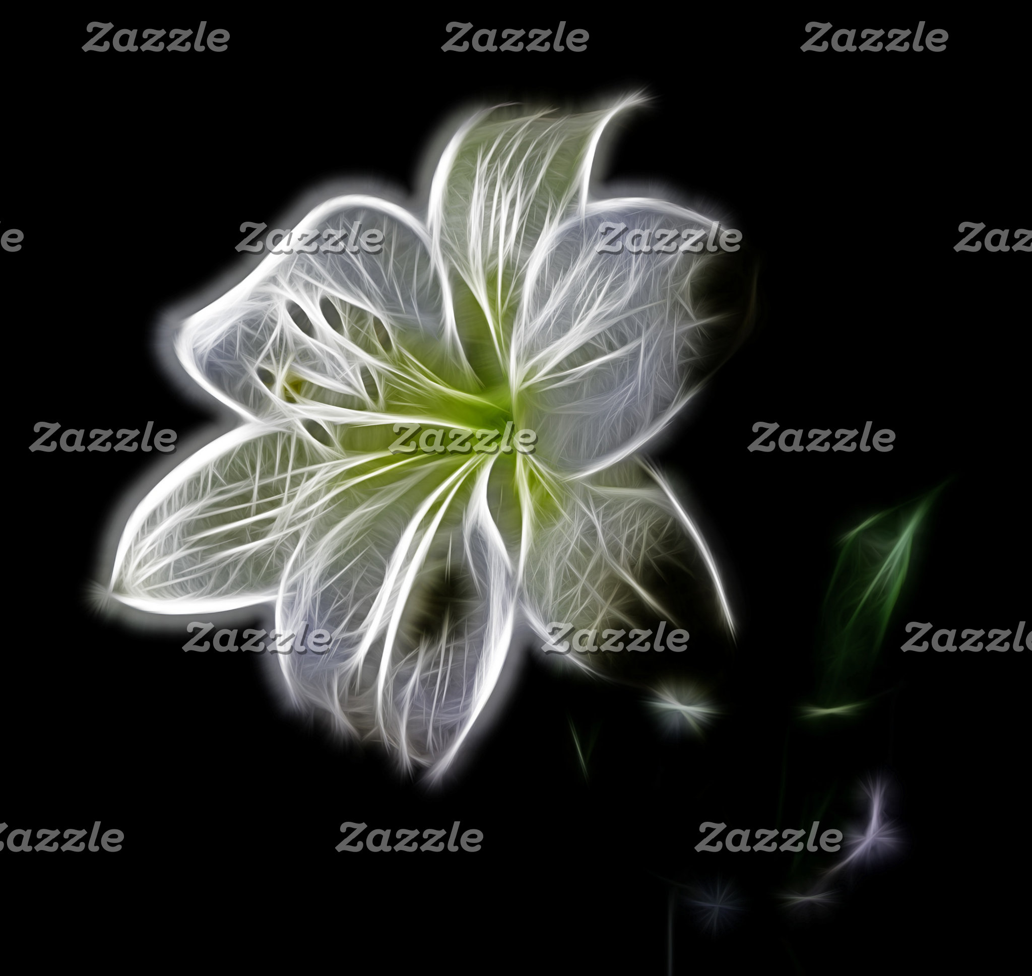 Illuminated Lily Outline