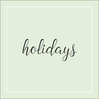 .Holidays