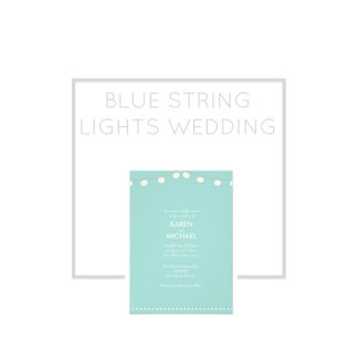 Blue String Lights