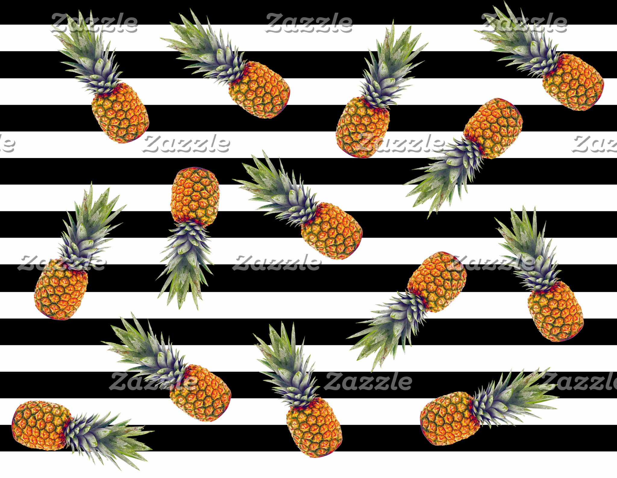 Pineapple black stripes