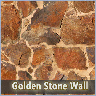Golden Stone Wall