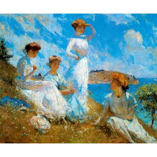 Ladies Wearing White Prints