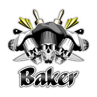 Baker Skull and Kitchen Utensils