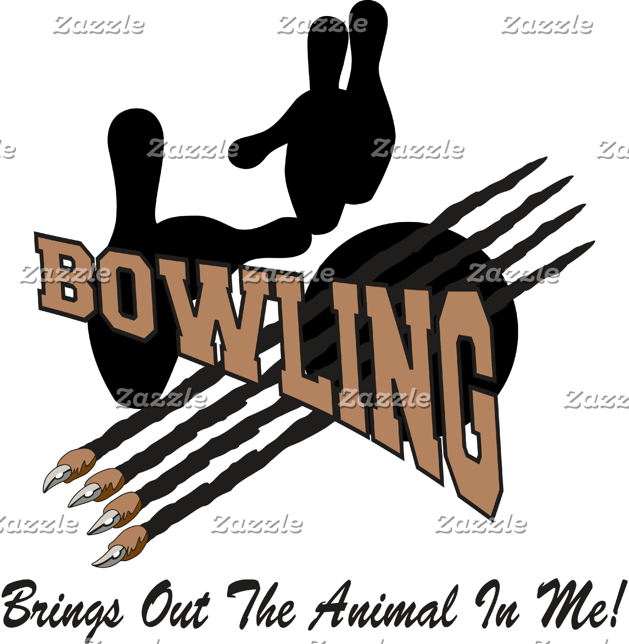 Bowling Brings Out The Animal In Me T-Shirt