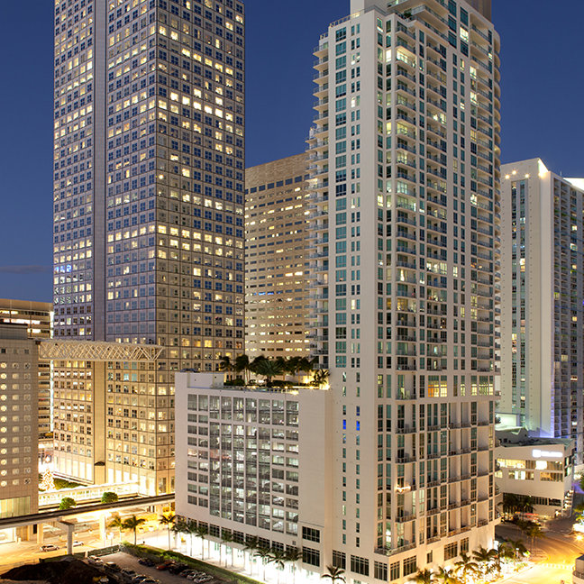 Downtown Miami at dusk