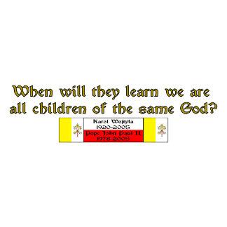 Children of God Pope John Paul