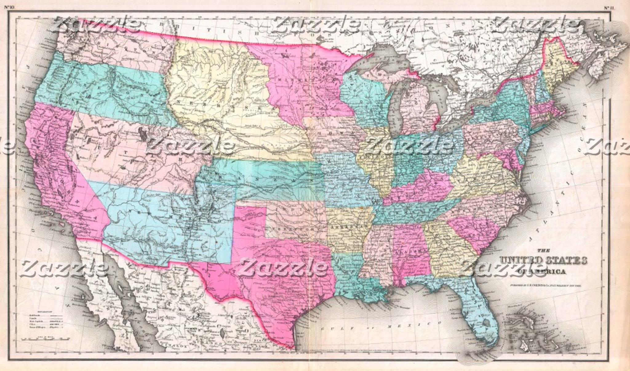 Vintage United States Map