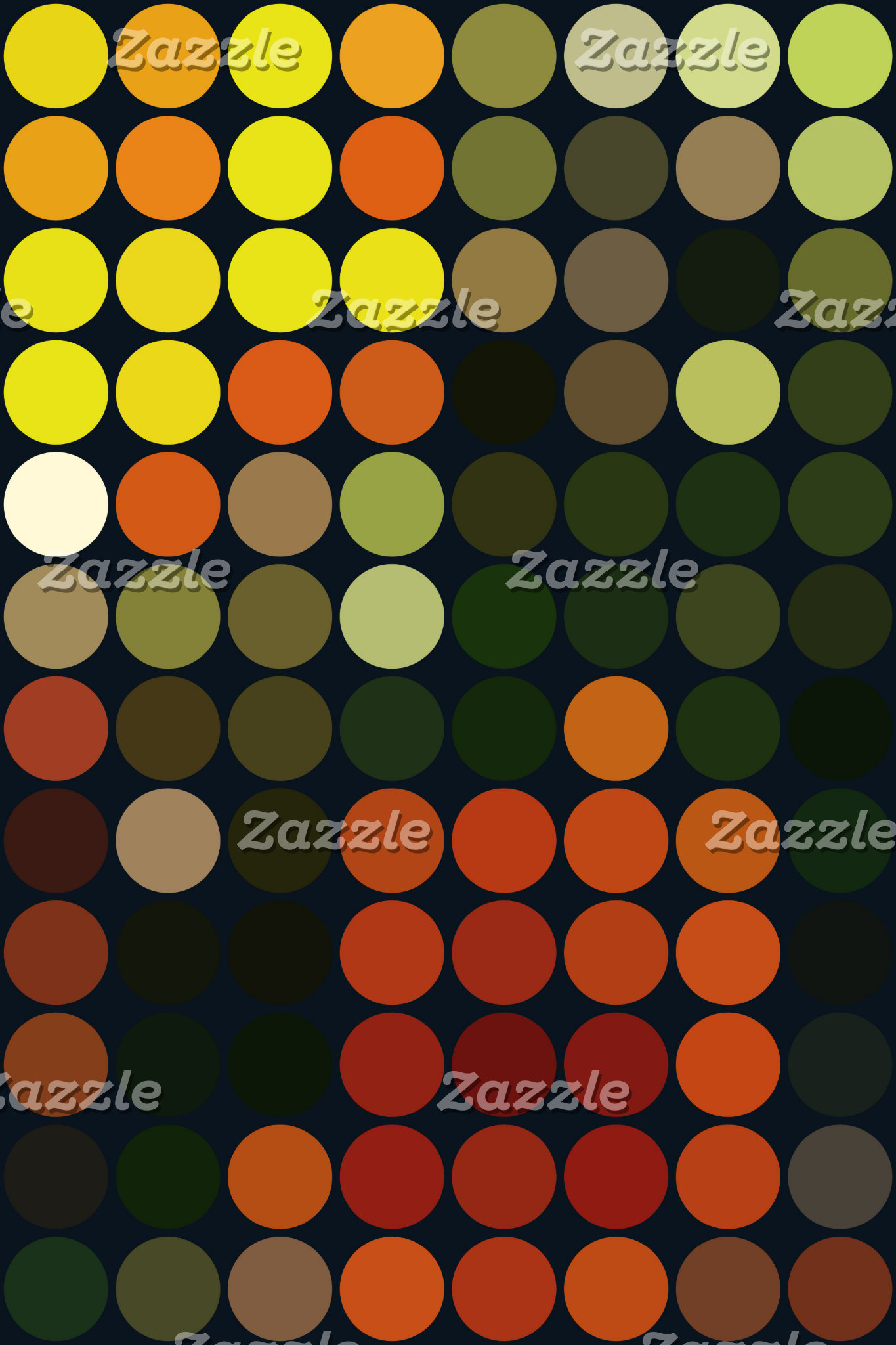 Geometric Art Yellow Orange Green Circles