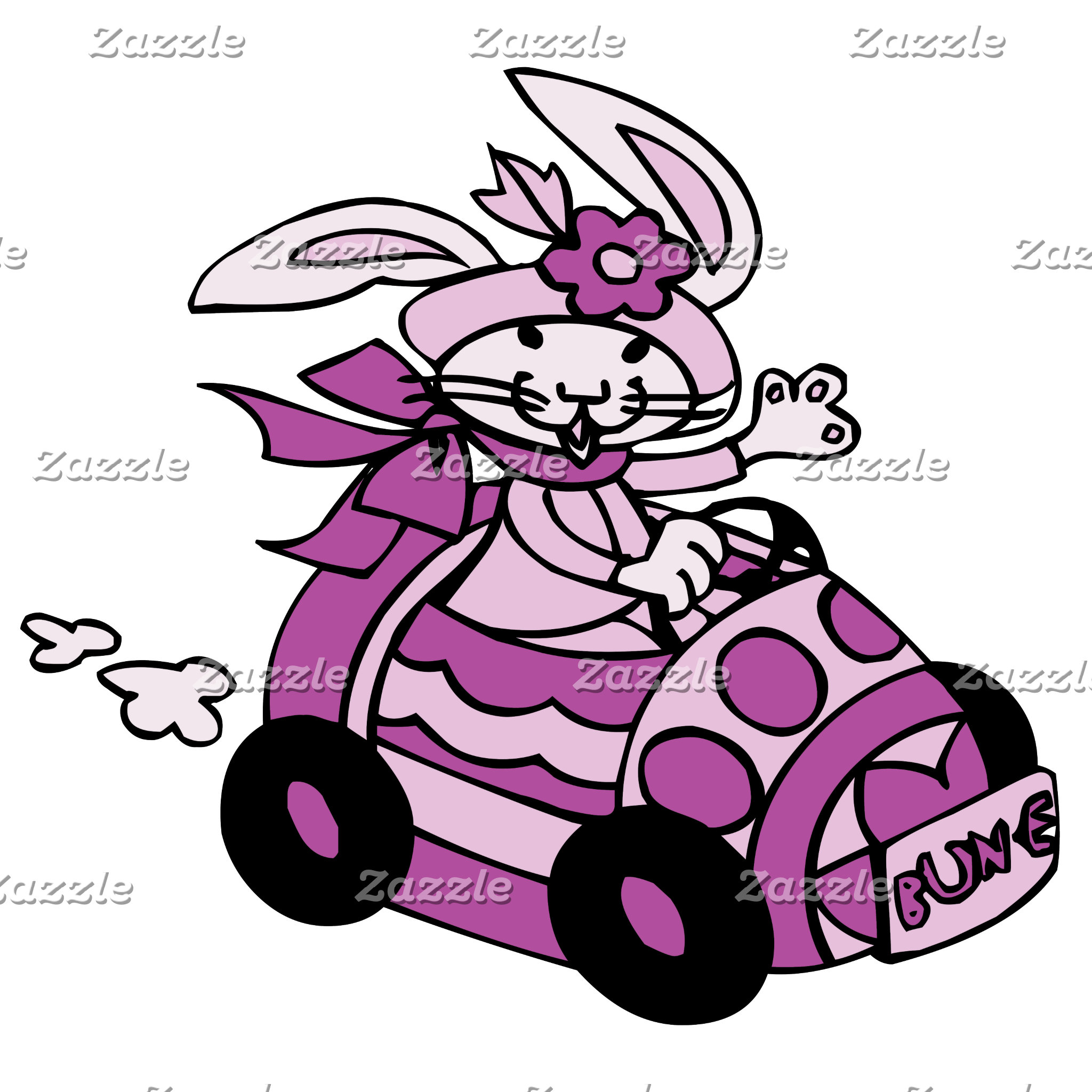 Bunny Easter Egg Car Pink Purple Bun-E