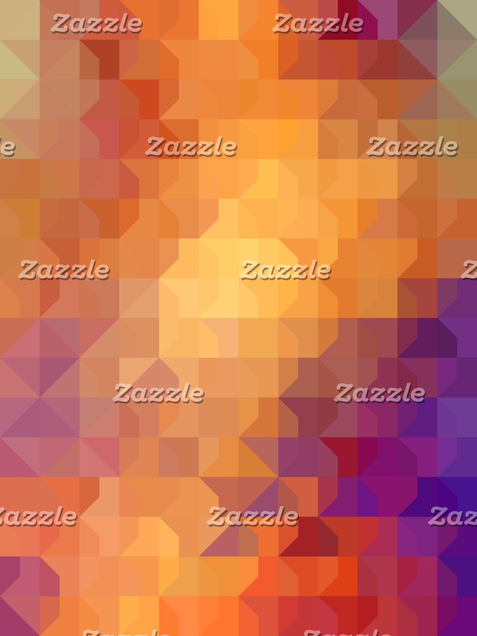 Geometric Patterns   Orange Squares and Triangles