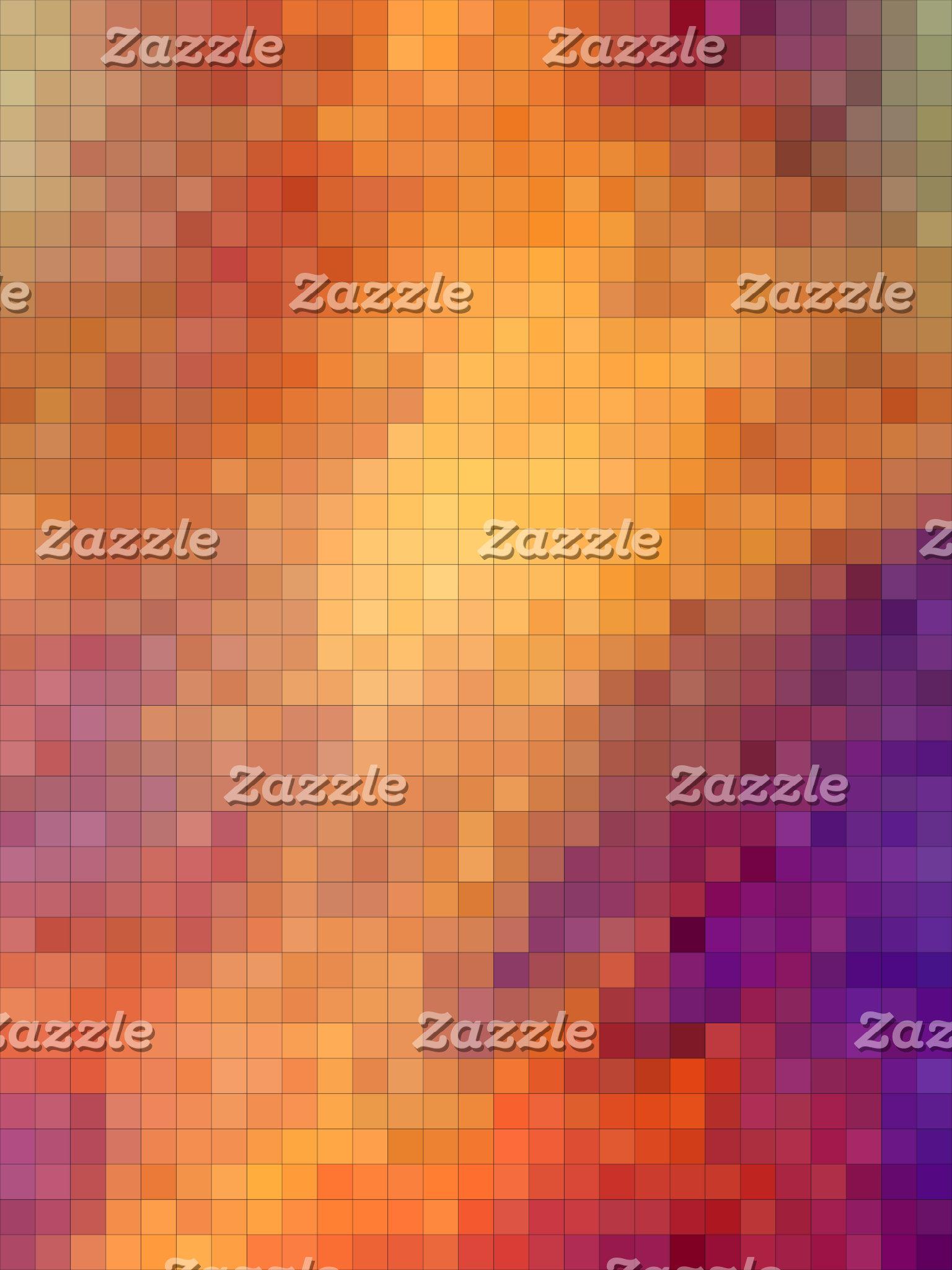 Geometric Patterns   Orange and Purple Squares