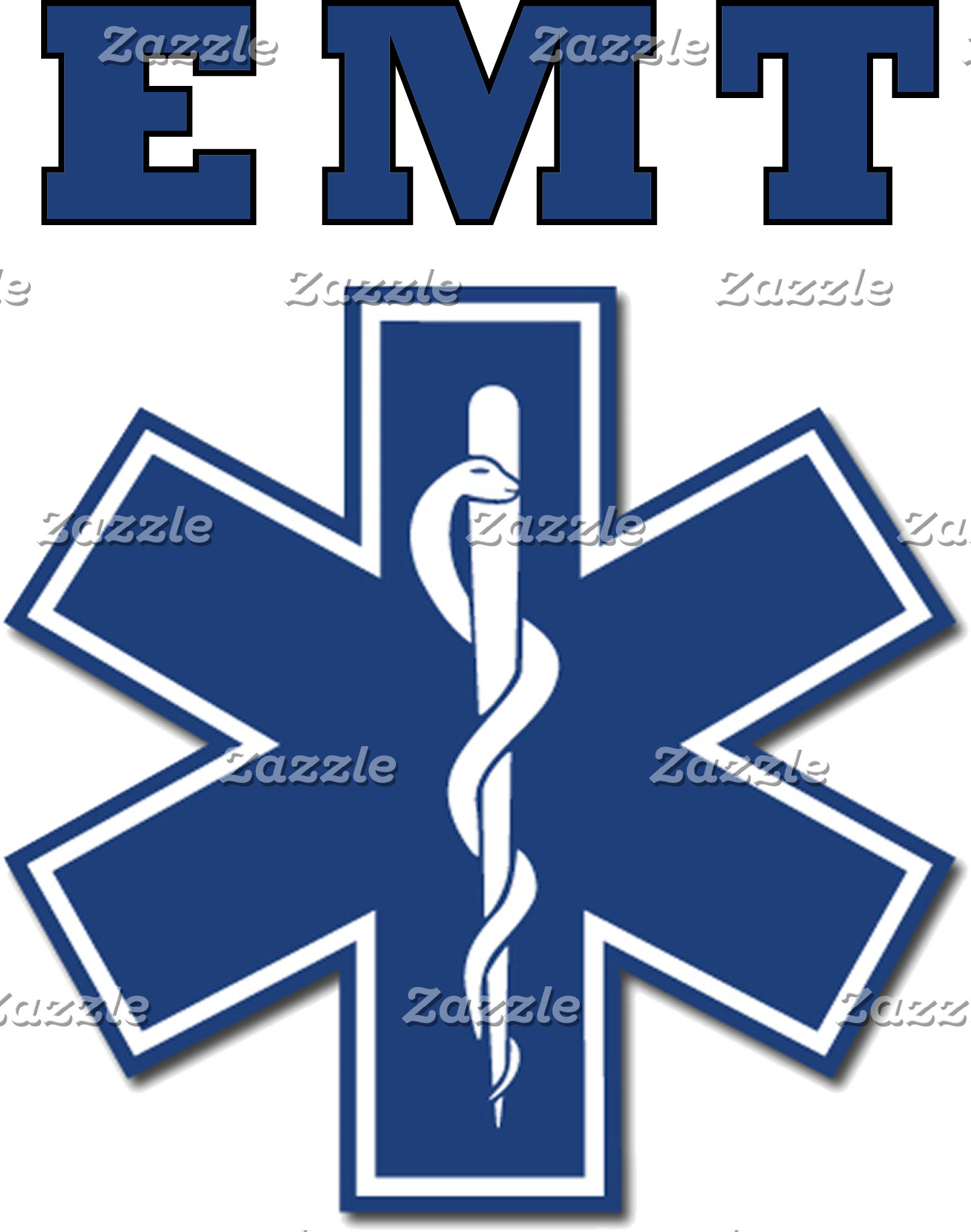 Blue EMT Star of Life