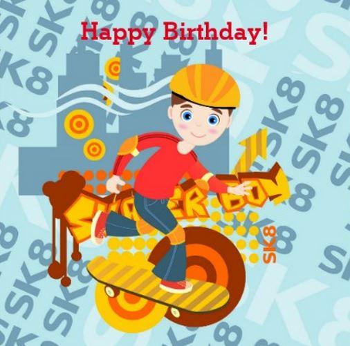 Skater Kid Birthday Party Theme