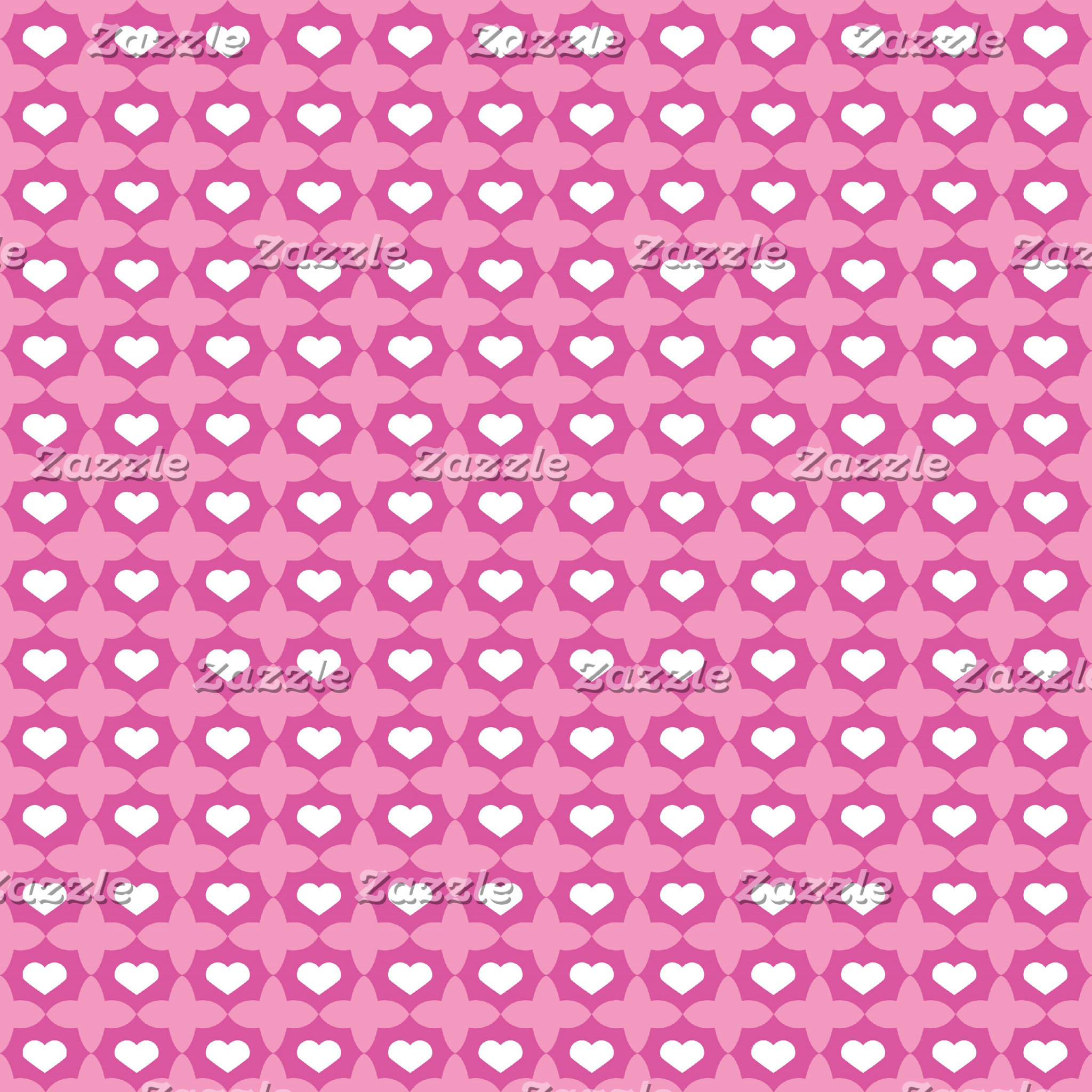 Chic Pink Hearts