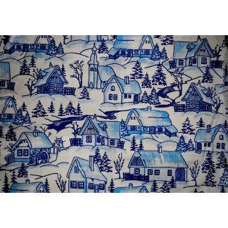 Blue Christmas Holiday Village
