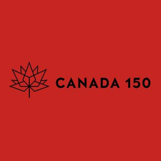 Canada 150 Horizontal Red and Black