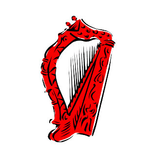 red black ornate harp music design.png
