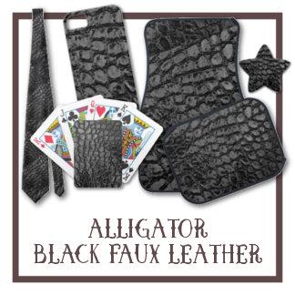 Alligator Black Faux Leather