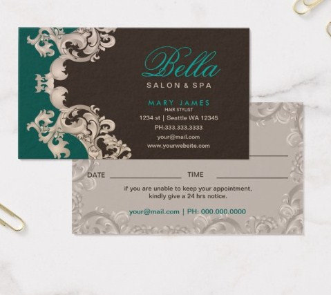 Salon and Spa Business Cards