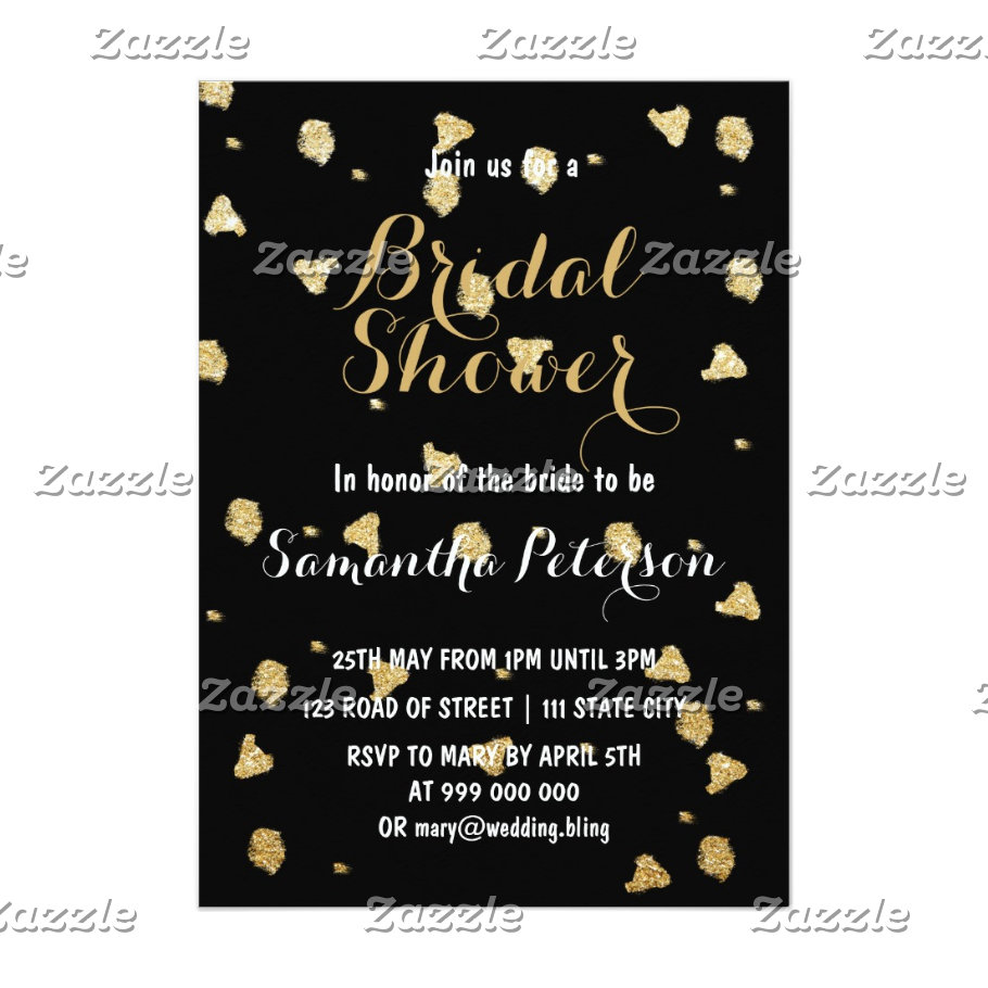 Elegant faux gold confetti Wedding