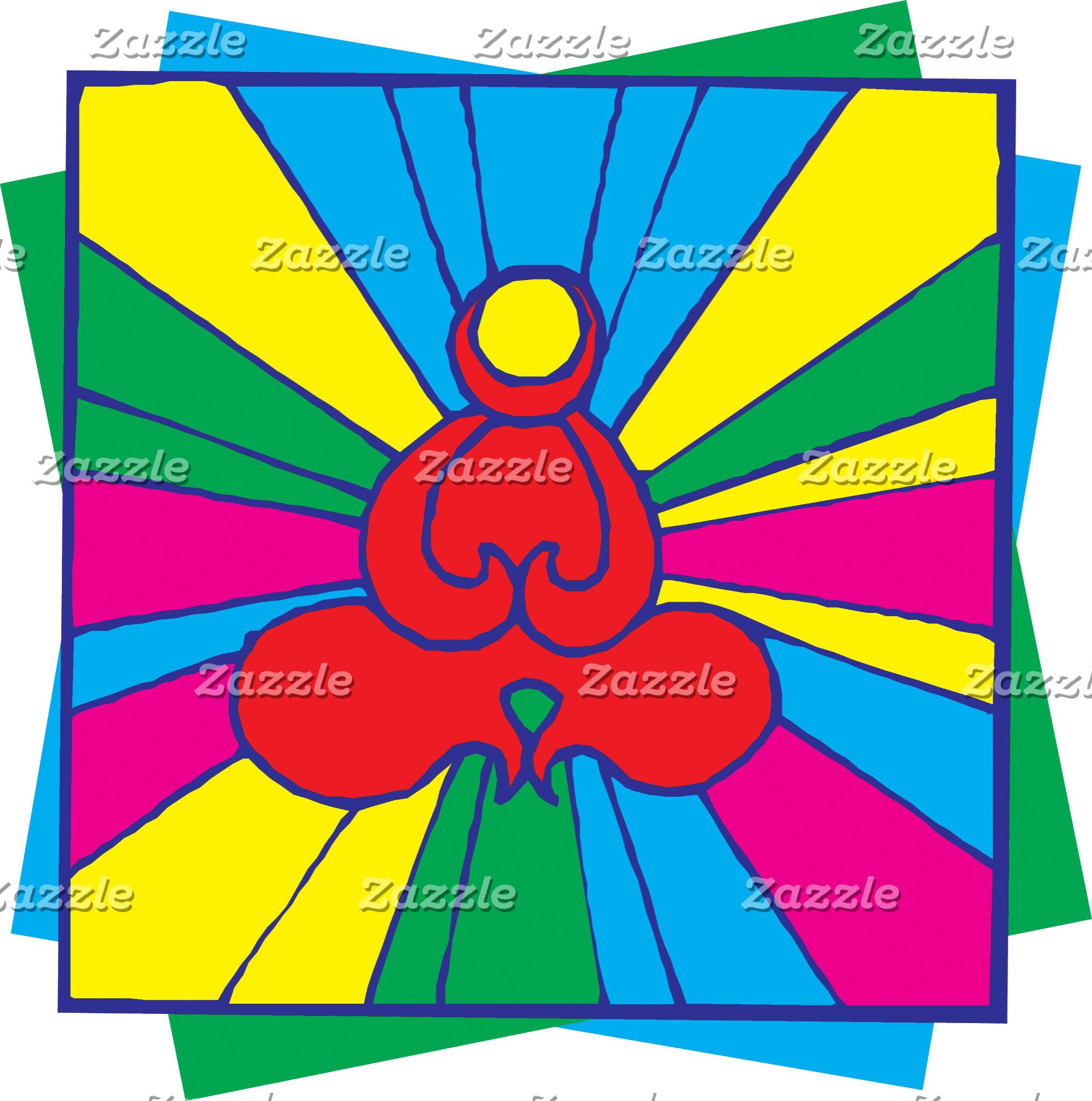 Abstract Lotus Pose Yoga T-Shirt Gift Cards