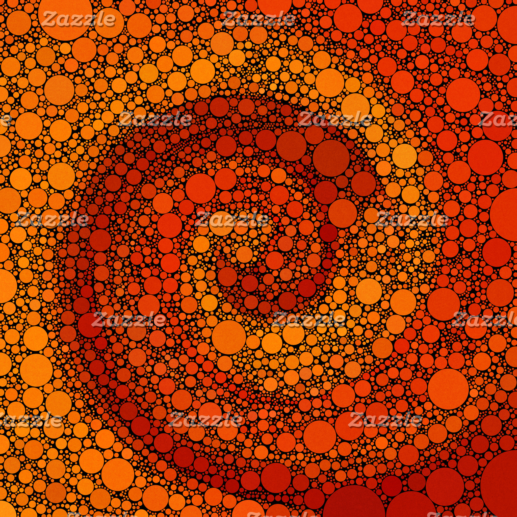 Geometric Patterns   Orange and Red Circles