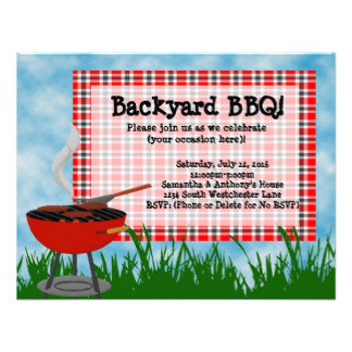Summer, BBQ, and Outdoor Party Invitations