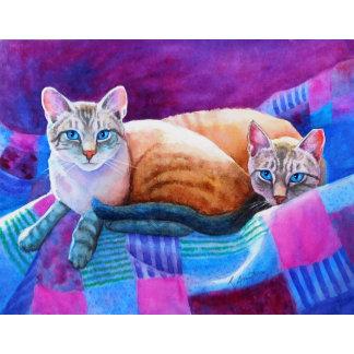 Lynx Point Siamese Cats