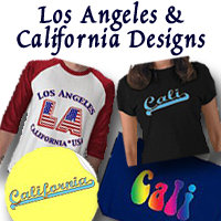 Los Angeles and California Logo Art