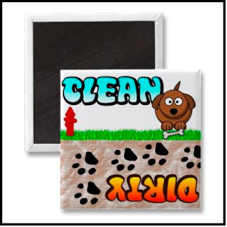 Clean and Dirty Dishwasher Magnets