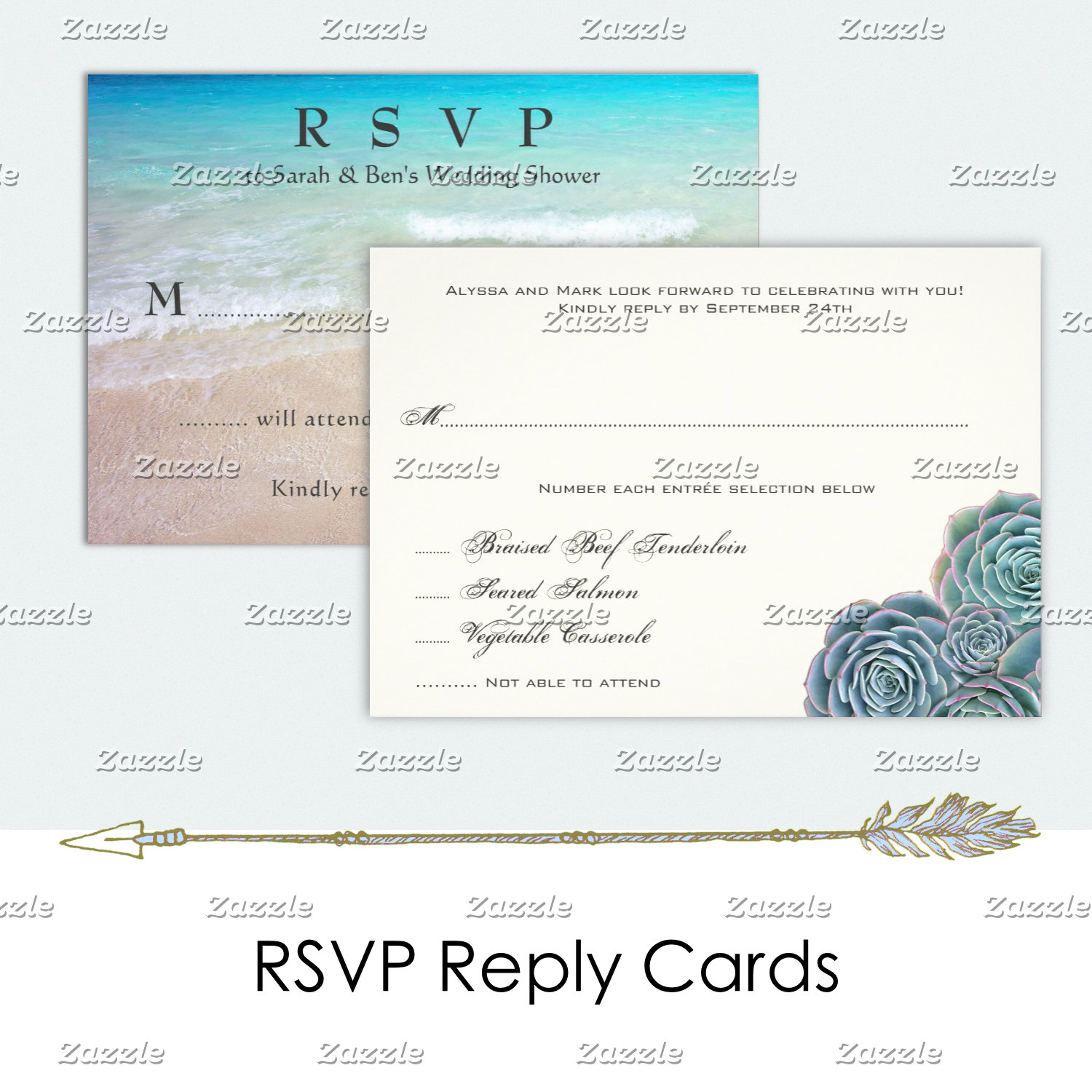 Reply Cards, RSVP to Weddings and Events
