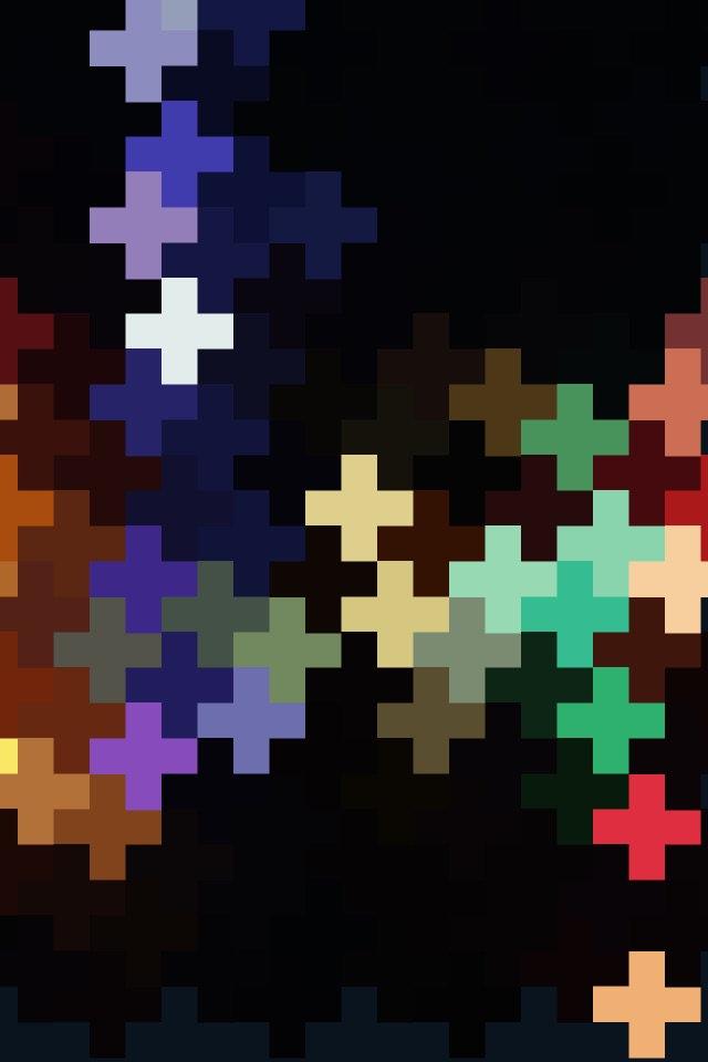 Geometric art   blue and gold crosses