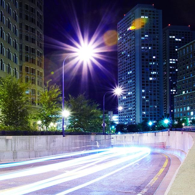 Blurred Traffic at Night