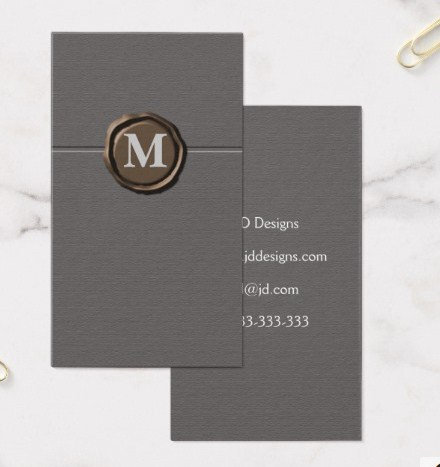 Customizable Monogram Business Cards