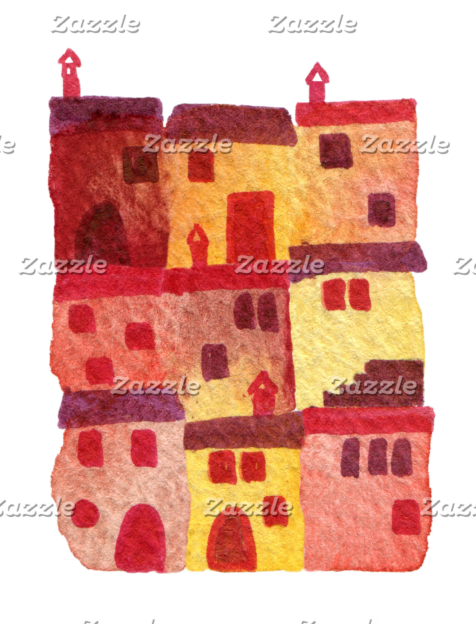 Houses, towns, villages