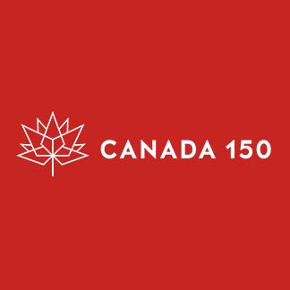 Canada 150 Horizontal Red and White