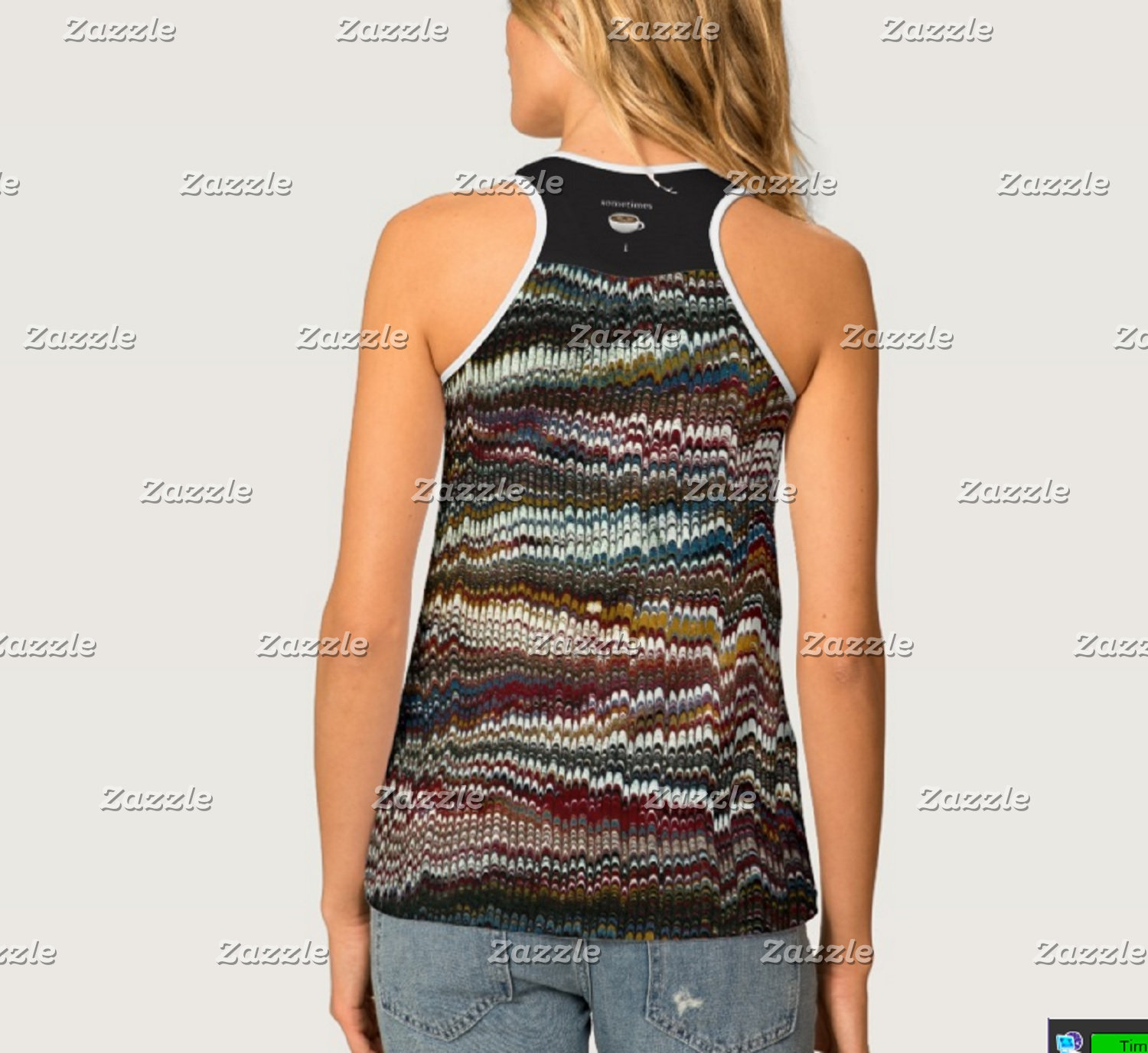 !! 1 All Over Print Womens Racerback Tanks