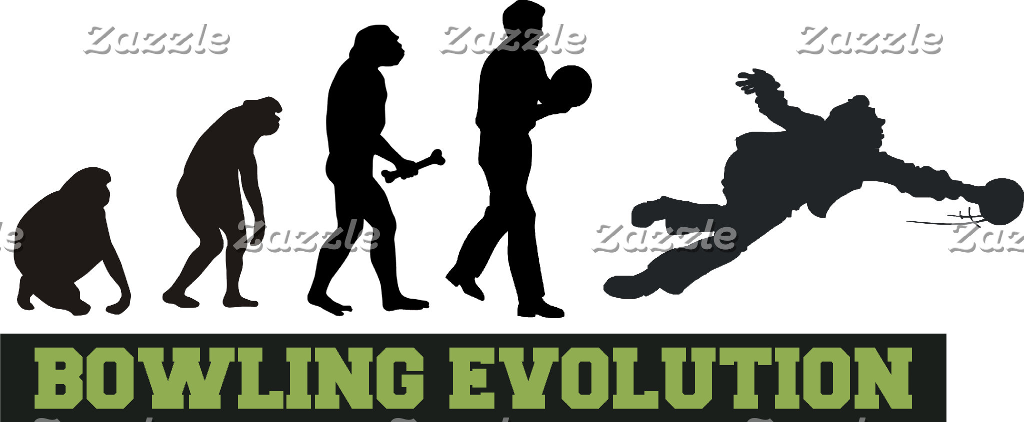 Bowling Evolution Bowler T-Shirt Gifts Cards