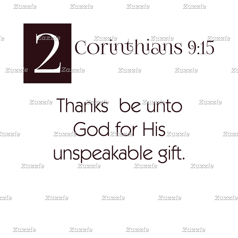 2 Cor 9:15 - Thanks to God
