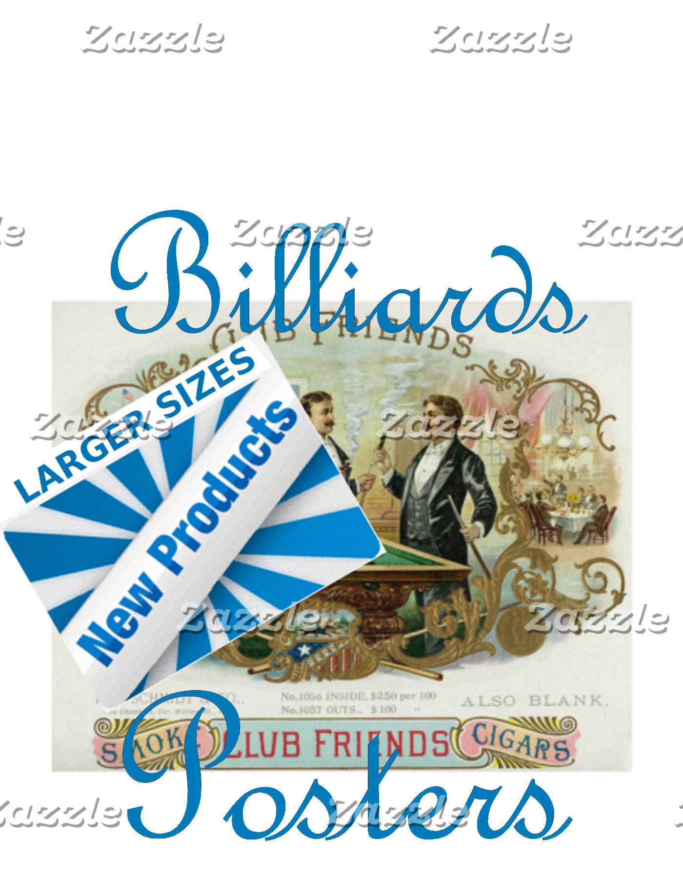 Billiard Posters