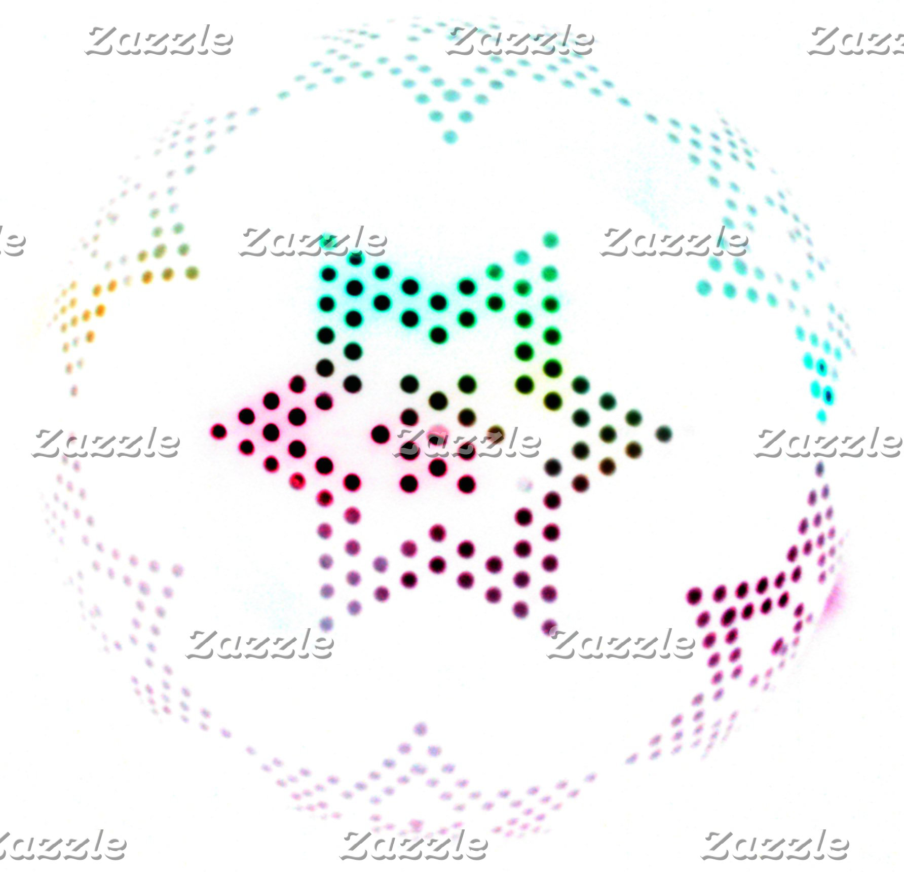 Multicolor Star Dot Pattern