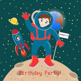 Astronaut Kid Birthday Party Theme