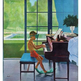 Poolside Piano Practice