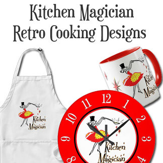 Kitchen Magician Retro Cooking Designs