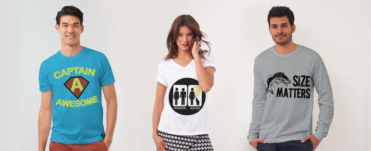T-Shirt med roliga designs!
