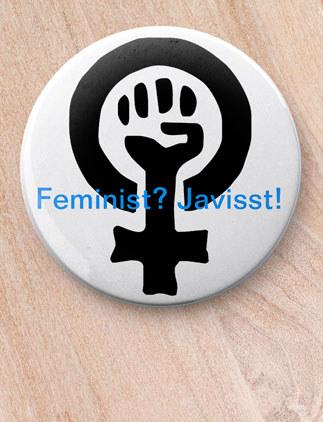 Politiska knappar som går att utforma meg egna mönster, bilder och text.